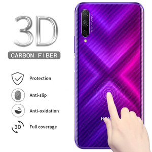 Image 1 - 5Pcs Back Full Cover Carbon Fiber Film Screen Protector for Huawei Honor 9X 8X 10 Lite 10i View 20 Play Nova 5 5i Pro P Smart