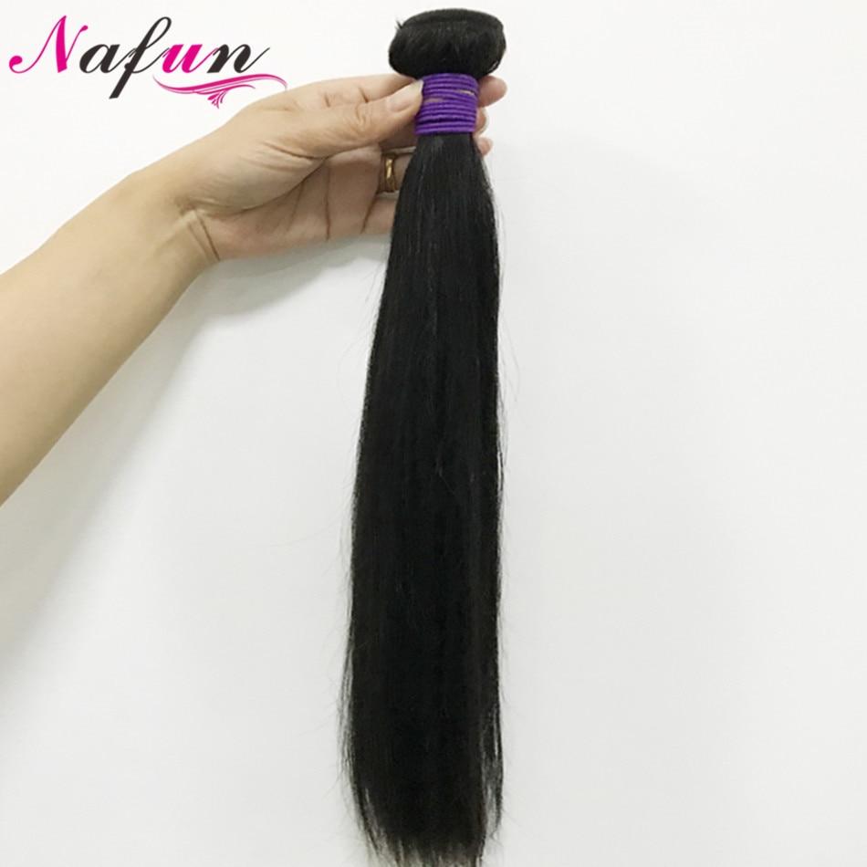 NAFUN paquets brésiliens de vague de cheveux paquets de 30 pouces paquets droits de cheveux humains Extensions de cheveux Non Remy livraison gratuite