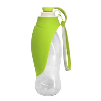 650ml Silicone Sport Portable Pet Dog Water Bottle Portable Folding Travel Dog Bowl For Puppy Cat Drinking Outdoor Water Bottle