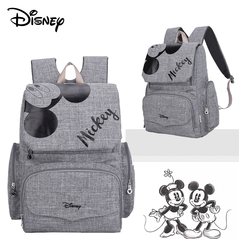 Disney Diaper Bag Minnie Mickey Baby Usb Bags For Mom Backpack Stroller Bag Large Capacity Baby Bags For Mom Multifunctional Bag