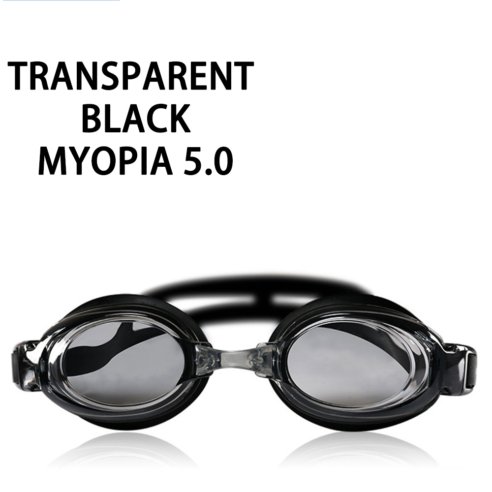 Оптическая близорукость плавательные очки 200-800 градусов Силиконовые противотуманные водная диоптрия плавательные очки для мужчин и женщин очки по рецепту - Цвет: Myopia 500