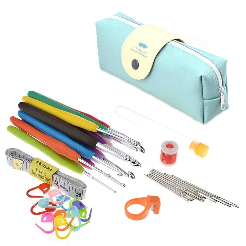 41 Pack Haaknaalden Set, Breien Accessoires Gereedschap met Case, Plastic + aluminium + metalen Breien Naald, ergonomische S