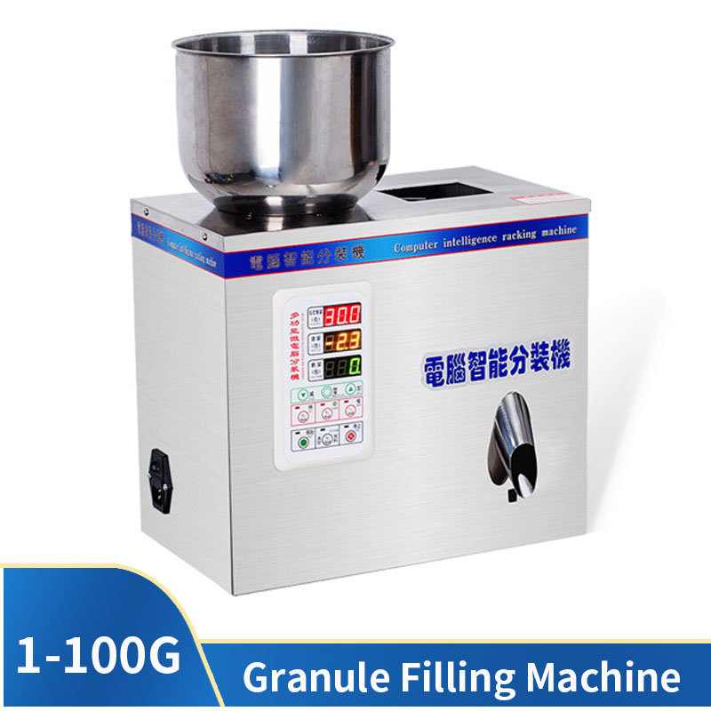 1-100G Granule Filling Machine Small Granule Packaging Machine Tea Weighing Machine Powder Filling Machine