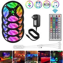 Wasserdicht RGB Led Streifen 5050 SMD 5m/10m/20m 12V Led Bluetooth Seil Licht für Bett Zimmer Hause Dekoration, farbwechsel mit Musik