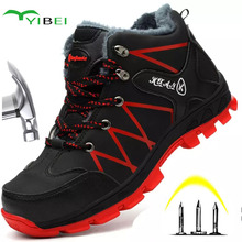Snow-Boots Safety-Shoes Wear-Resistant High-Top Steel Anti-Smashing Waterproof Winter