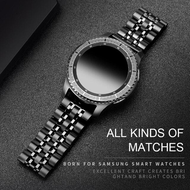 20MM 22MM الفولاذ المقاوم للصدأ الفرقة ووتشلسامسونج غالاكسي (42/46)العتاد S3 / S4 / S2 الحدود / الكلاسيكيةاستبدال Watchbandالإفراج السريع