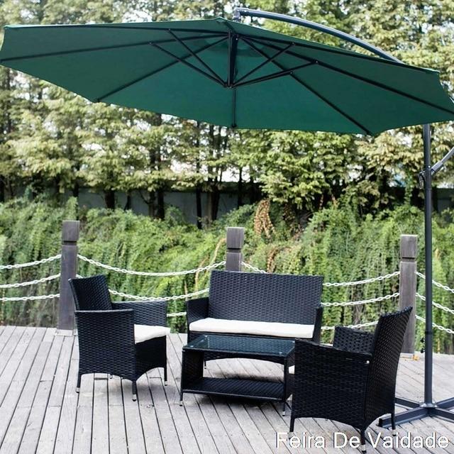 4 PCS  Garden Conversation Wicker Sofa Set 4