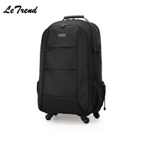 New Business Trolley Backpack Waterproof Trolley Bag Luggage Computer Layer Multi function Pocket Boarding Travel Bag
