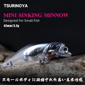 TSURINOYA Fishing Lure DW29 Sinking Water Minnow Lure 42mm 3.2g Artificial Hard Bait With High Quality Hooks Crankbaits Pencil(China)