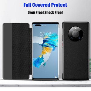 Image 4 - Official Original Smart View Call ID Leather flip Cover Case for HUAWEI Mate 40 Pro Plus Mate 30 Pro P40 Pro