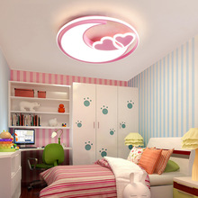 Ceiling-Lights Girl Lamp Heart-Shape Baby-Room Princess-Lamp Child for Kids