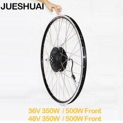 Koło silnikowe 36V 48V E piasta rowerowa koło silnikowe 350w 500W zestaw do konwersji roweru na elektryczny silnik piasta przednia