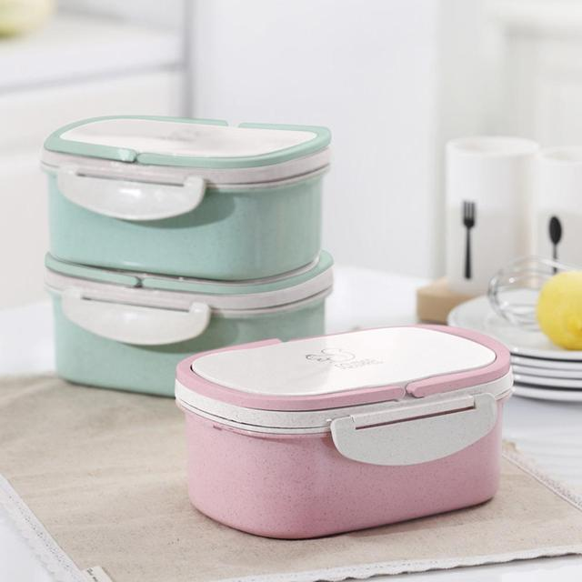 Container Box Double-layer Wheat Stalk Lunch Box Portable Eco-friendly Food Storage Box