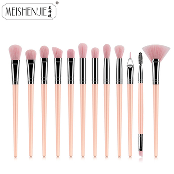 1-12Pcs Professional Makeup Brushes Set Powder Foundation Eyeshadow Eyeliner Make Up Brushes Cosmetics Blending Soft Maquiagem