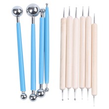 10 Piece Dotting Tools Ball Styluses for Mandala Rock Painting, Pottery Clay Craft, Embossing Art(China)