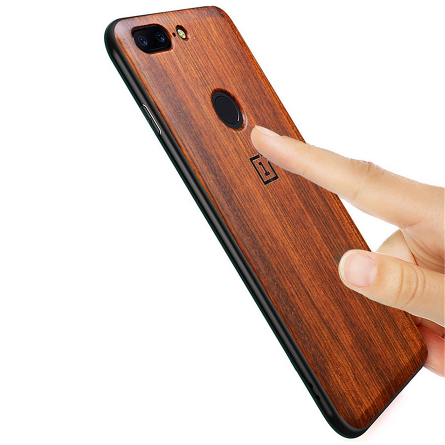 Oneplus 5t Case Original Real Wood funda Oneplus 6 Rosewood TPU Shockproof Back Cover Phone Shell One plus 6 case