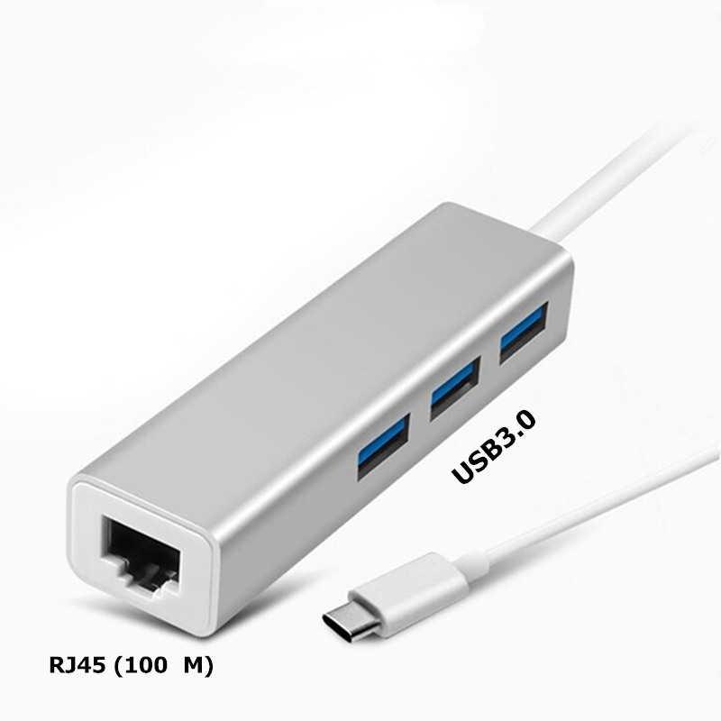Trumsoon タイプ c に RJ45 ネットワークカード lan イーサネット 100 m アダプタ usb 2.0 用 3.0 ハブケーブル macbook chromebook サムスン S8 Note9 dex