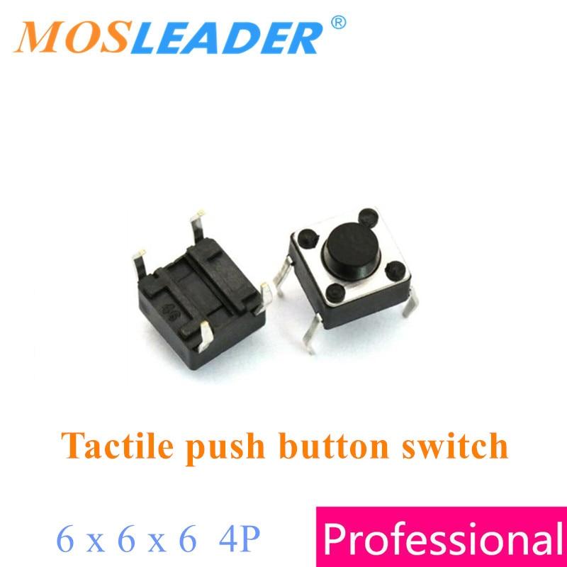 Micro switch push button Micro Tact Push Button Switch DIP 4P 6*6*5mm 100pcs