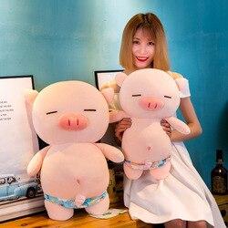 Потрясающие 25/40 см плюшевые свинья носить Плавки Успокаивающая кукла stufeed мягкий высокого качества Подушка подарок на Новый год для детей