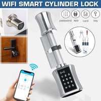 Bluetooh Smart Cylinder Lock Keyless Electronic Door Lock APP Wifi Lock Digital Code RFID Card Lock for Home Apartment