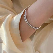 XIYANIKE de Plata de Ley 925 Pull-out ajustable pulsera de mujer Retro Simple-encuentro creativo accesorios de moda de la joyería