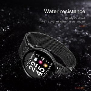Image 3 - Gosear reloj inteligente con control del ritmo cardíaco y de la presión sanguínea para hombre y mujer, pulsera inteligente con Bluetooth para Apple IOS y Android
