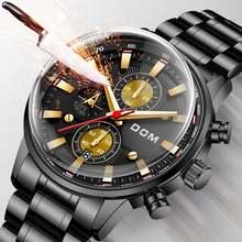 Модные часы мужские Креативные класса люкс Бизнес водонепроницаемые