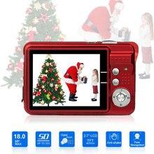 كاميرا رقمية عالية الدقة للأطفال ، 18 ميجابكسل ، 2.7 بوصة ، TFT ، شاشة LCD ، تقريب 8x ، مضادة للاهتزاز ، كاميرا فيديو CMOS ، هدية للأطفال