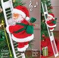 Электрическая лестница для скалолазания, Рождественская Фигурка Санта-Клауса, украшение, Санта-Клаус, электрическая подвесная игрушка с ор...