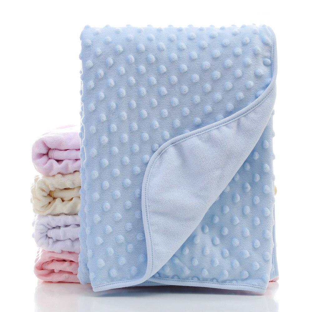 Newborn Stroller Sleep Cover Beanie Infant Bedding Quilt Swaddling Wrap Baby Crib Bedding Cot Quilt Boy Toddler Nap Blanket