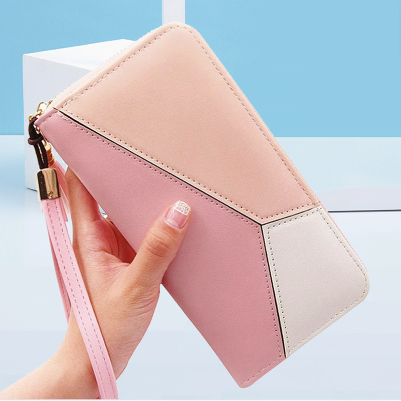 Leather Women Purse Tassel Long Wallets Fashion Wallet Female Phone Pocket Purse Card Holder Coins Clutch Provide Name Engrave