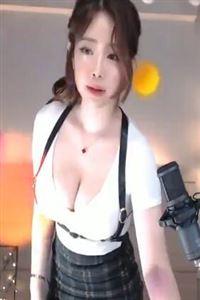 韩国美女格子裙大胸热舞视频[高清高清]