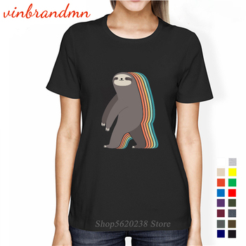 2020 Hot-sale Sleepwalker Sloth Style T-shirt Women Funny Dizzy sloth T shirts Funny tshirt harajuku Tops cotton Tee camiseta image