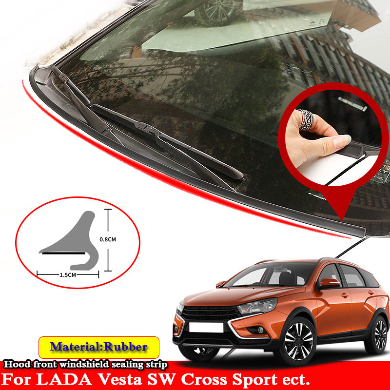 1.8M Rubber Seal Strip Car Styling Windshied Spoiler Filler Protect Edge Weatherstrip For LADA Vesta SW CROSS Sport Ect.