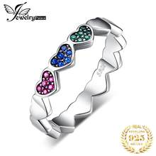 JewelryPalace Sky Clouds Sunny Days Created Blue Spinel Ring 925 Sterling Silver Gifts For Best Friends Hot Selling New arrivals(China)
