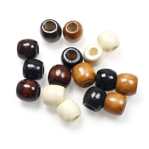 100pcs/lot Vintage Natural Wood Loose Beads 10mm 12mm Coffee/Brown/Beige Big Hole Oval Wooden Spacer Beads DIY Jewelry Findings