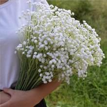 Artificial gypsophila bouquet plástico falso flor respiração do bebê para festa de casamento decoração da sua casa flores diy arranjo foto adereços