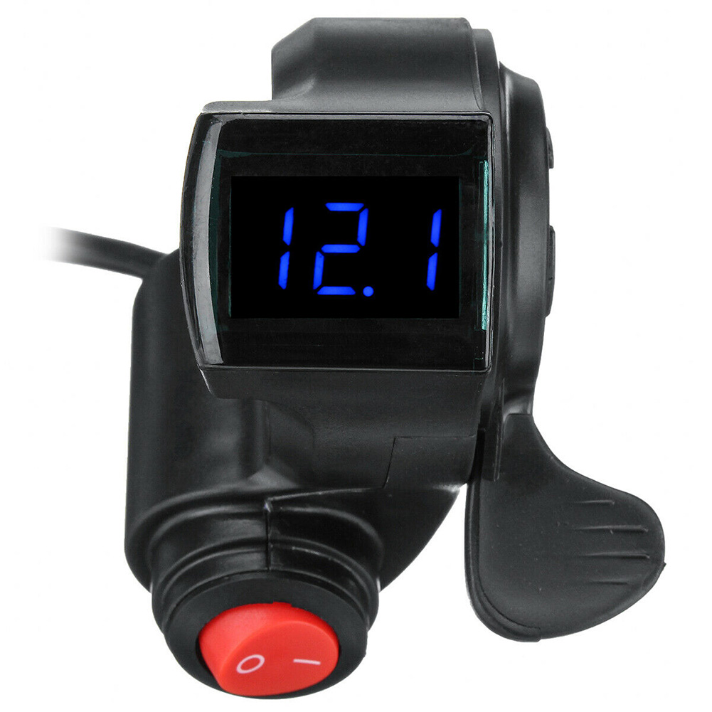 Black LED Display Accessories Universal With Power Switch 12V-72V Grips Scooter Durable Thumb Throttle Digital For Electric Bike