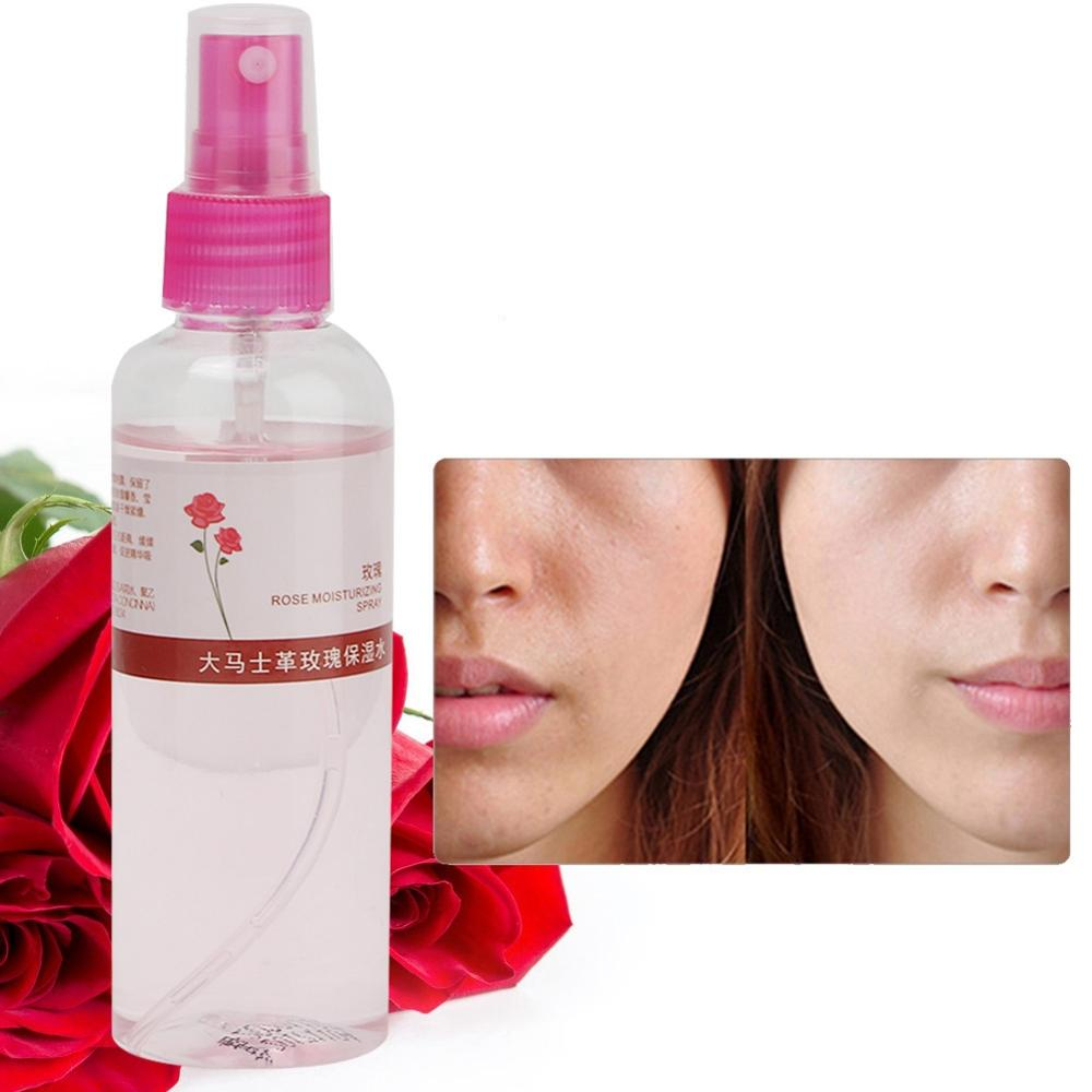 105ML Natural Rose Petals Water Moisturizing Hydrating Spray Revitalizing Face Toner Face Toners Shrink Pores Skin Care Toner