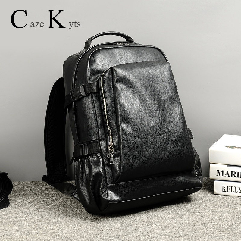 Men's Casual Retro Fashion Backpack Travel Backpack Student Bag New Trend Leather Bag Waterproof Computer Bags Free Shipping