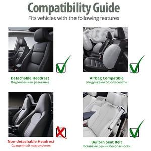 Image 5 - Funda para asiento de coche, Cubiertas de asiento delantero transpirable, decoración de alta calidad, 3 colores, Protector Universal para la mayoría de los vehículos