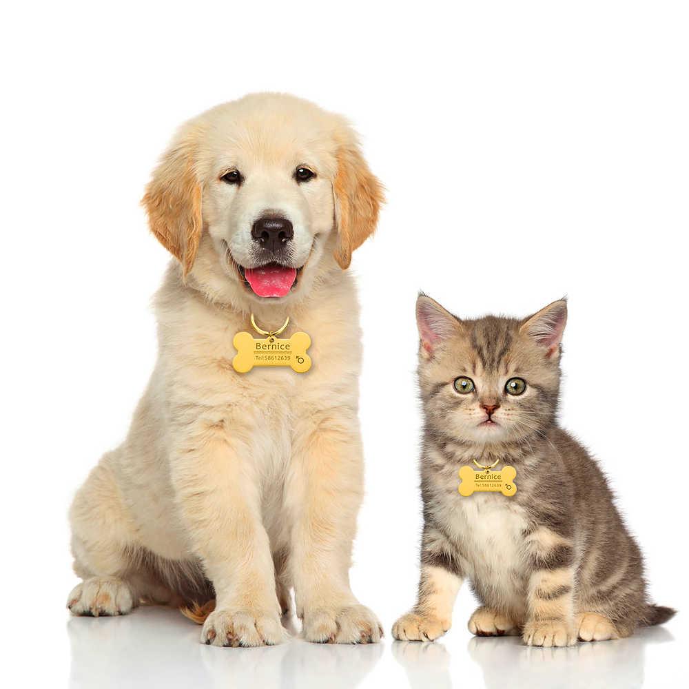 Cá Tính Chó Mèo Thú Cưng ID Thẻ Móc Khóa Khắc Thú Cưng ID Tên Cho Mèo Con Chó Con Chó Cổ Tag Mặt Dây Chuyền Chìa Xương phụ Kiện Dành Cho Thú Cưng