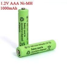 1,2 v AAA Batterien 1000mAh Ni-mh-akku 1,2 V Ni-Mh aaa Für Elektrische fernbedienung auto Spielzeug RC ues