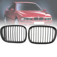 Car Front Center Kidney Grilles Matte Black Grill for BMW E39 518 520 523 525 528 530 535 1995 1998 One Pair