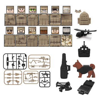 Military Special Forces Soldiers Bricks Figures Guns Weapons Armed SWAT Building Blocks Kids Toys dropshipping 12pcs set military wapen special armed forces soliders action figures gun toys building blocks compatible legoings for child