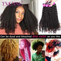 YVONNE perwersyjne kręcone dziewicze brazylijskie włosy wyplata 4A 4B nieprzetworzone ludzkie włosy wiązki naturalny kolor