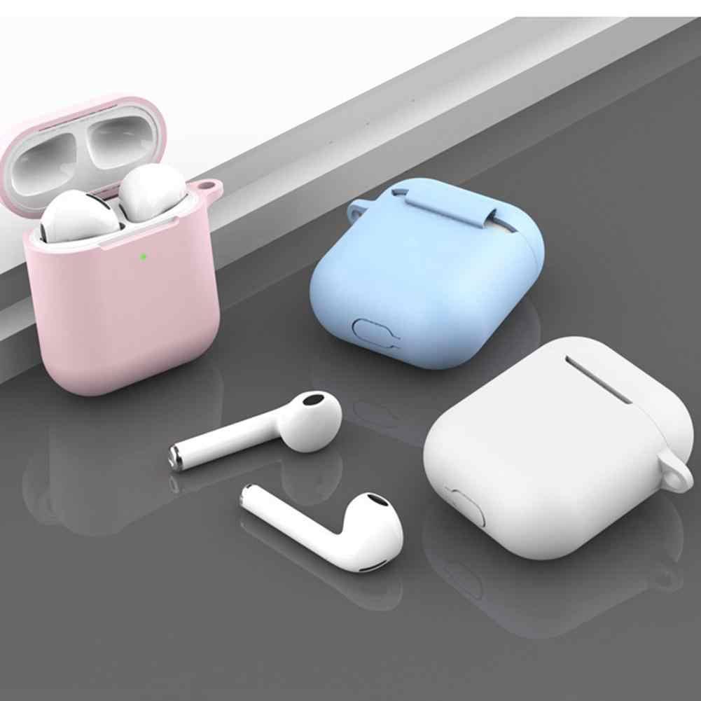 נייד אבק הוכחה עמיד סיליקון Bluetooth אוזניות מגן אחסון תיק עבור AirPod s 2