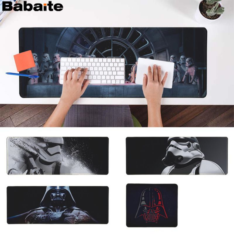 Babaite New Printed Star War Customized MousePads Computer Laptop Anime Mouse Mat Rubber PC Computer Gaming Mousepad