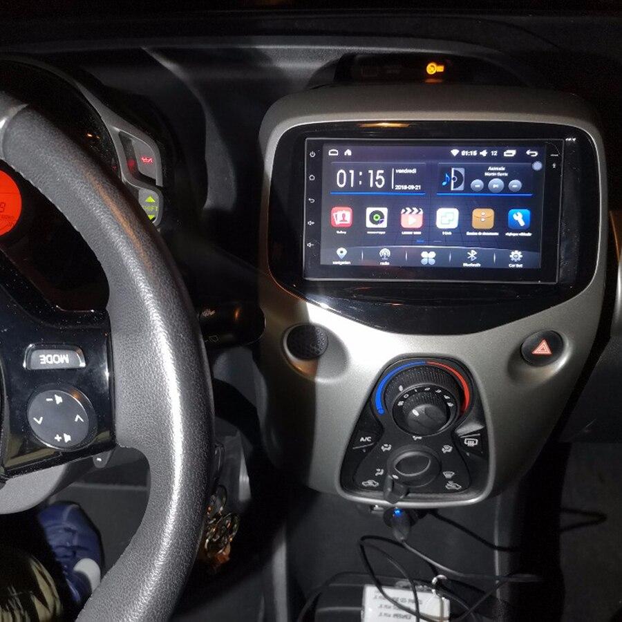 64 ГБ Android 10 2Din автомобильный GPS для Peugeot 108 2016 рекордер Citroen C1 Toyota Aygo Авторадио Навигация стерео головное устройство радио