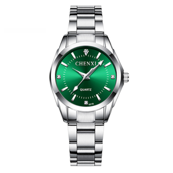 CHENXI Lady Rhinestone Fashion Watch Women Quartz Watch Women's Wrist watches Female Dress Clock xfcs relogio feminino - Green, China
